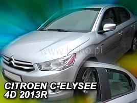 Дефлекторы окон (ветровики) Citroen  C-Elisee 2012 -> 4шт (Heko)