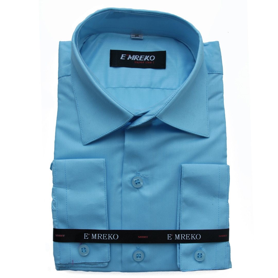 Рубашка для мальчика Emreko с длинным рукавом  голубая