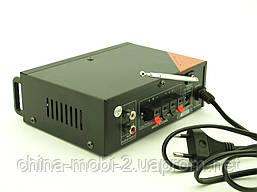 Підсилювач звуку 30W Mega-Sound AV-666U c Bluetooth FM MP3, фото 3