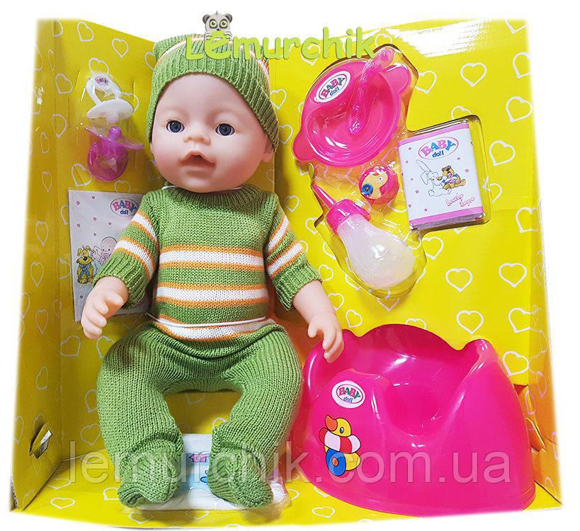 Лялька-пупс Baby born одяг зима, 9 функцій, 9 аксесуарів