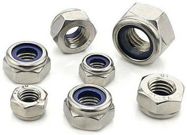 Гайка нержавеющая М2,5 DIN 985, ISO 10511 низкая самоконтрящаяся с нейлоновым кольцом