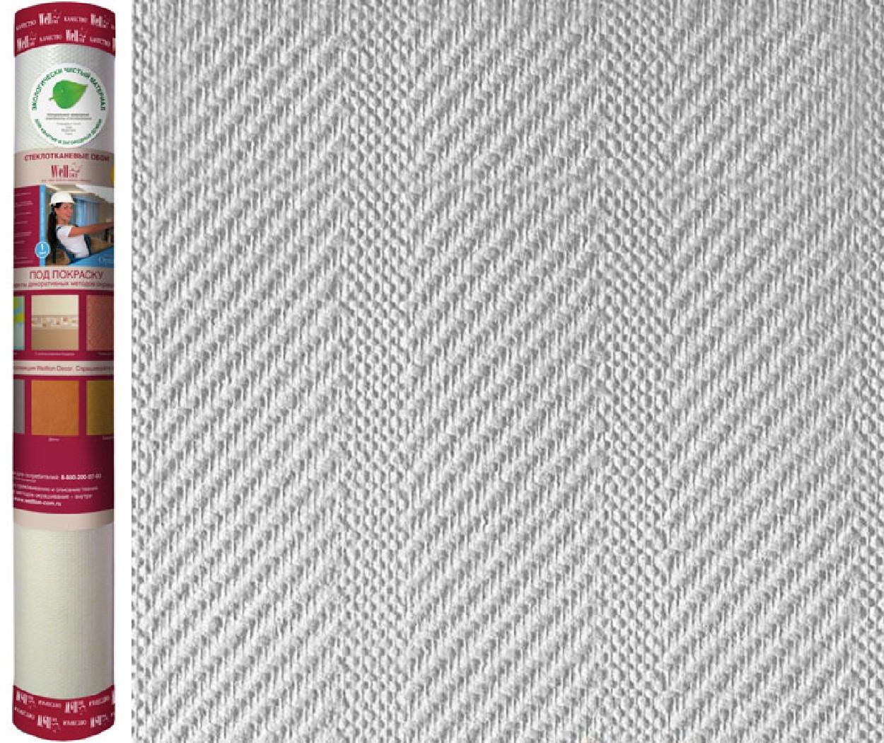 """Обои стекловолоконные WELLTON OPTIMA декоративные """"Ампир-WO120"""" , 25 кв.м"""