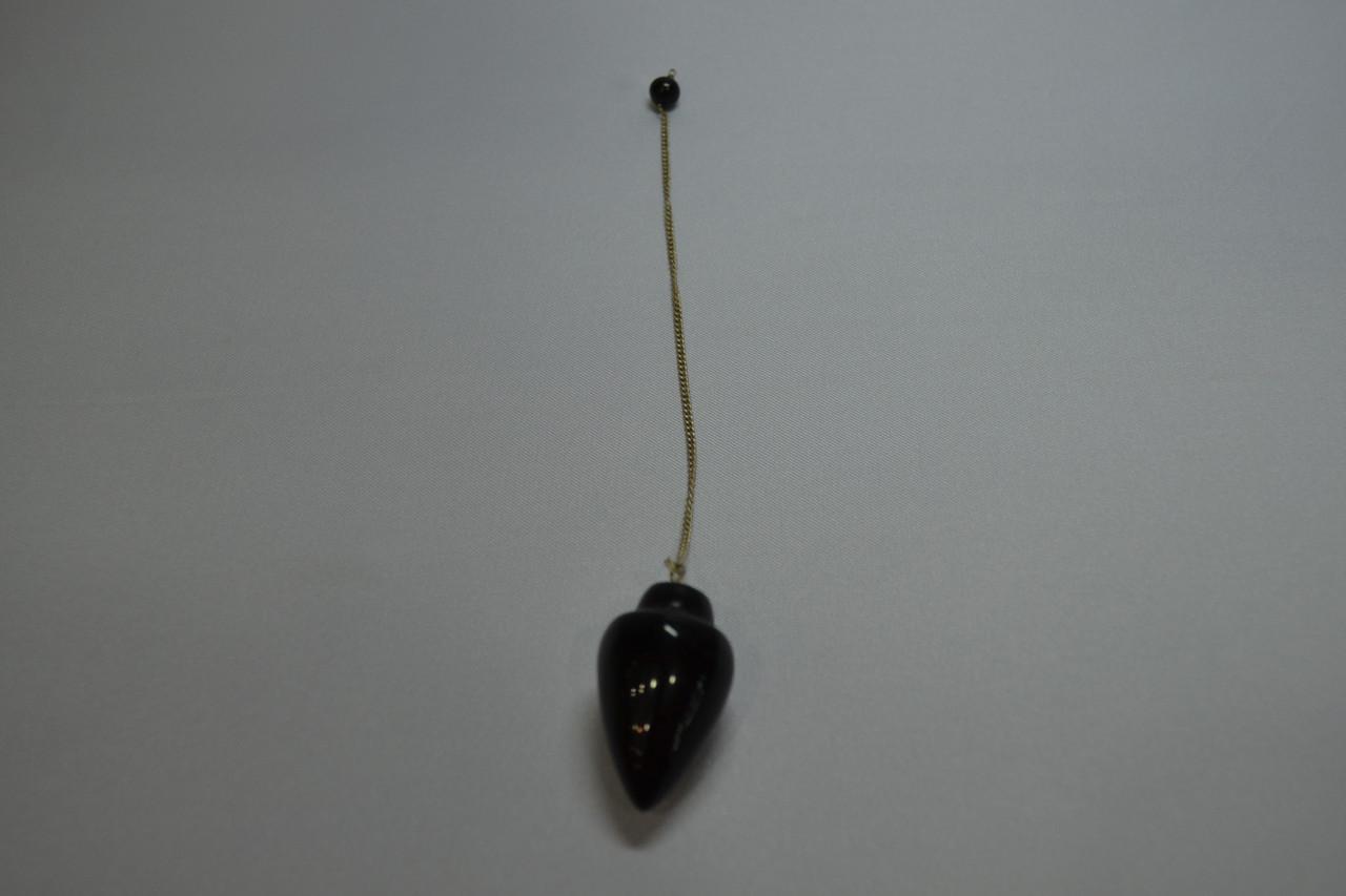 """Маятник """"Черный агат"""" (2,5х4 см)"""