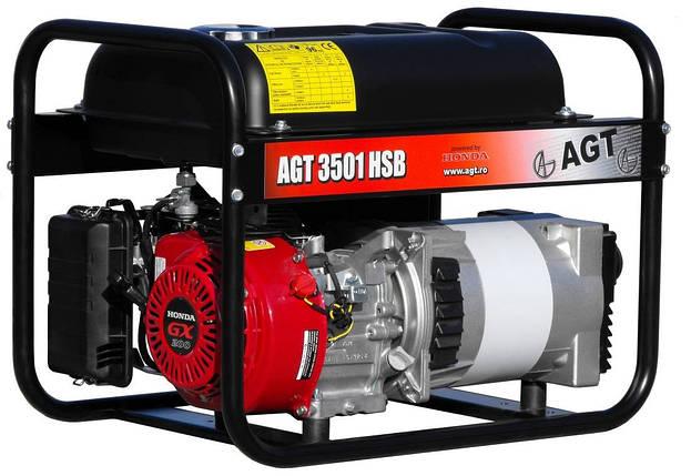 Бензиновий генератор AGT 3501 HSB, фото 2
