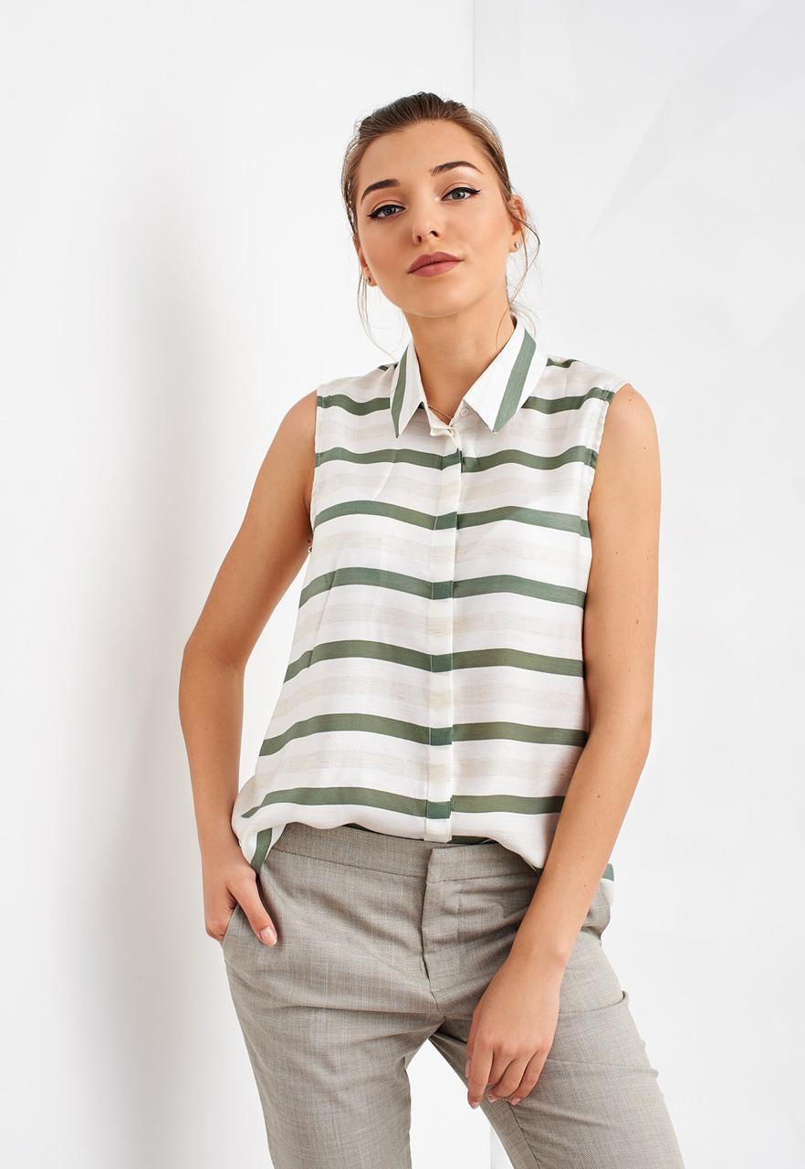 Полосатая женская блуза