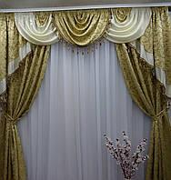 """Шторы с ламбрекеном в большую комнату """"Николетта"""", фото 1"""