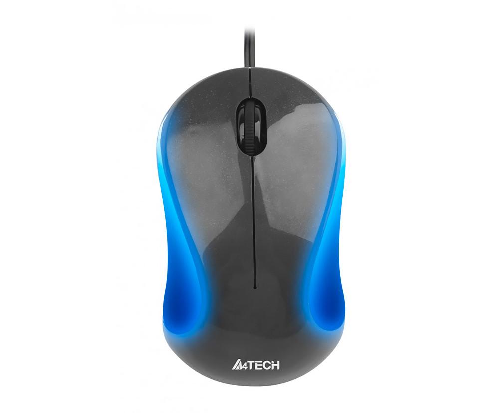Мышь A4Tech N-320-1 Black/Gray, V-TRACK, USB, 1000 dpi, подсветка