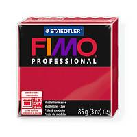 Фимо Профессионал 85 г Fimo Professional  - 29 карминовый красный