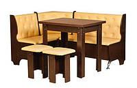Кухонный уголок «Адмирал»  с простым столоми двумя табуретами