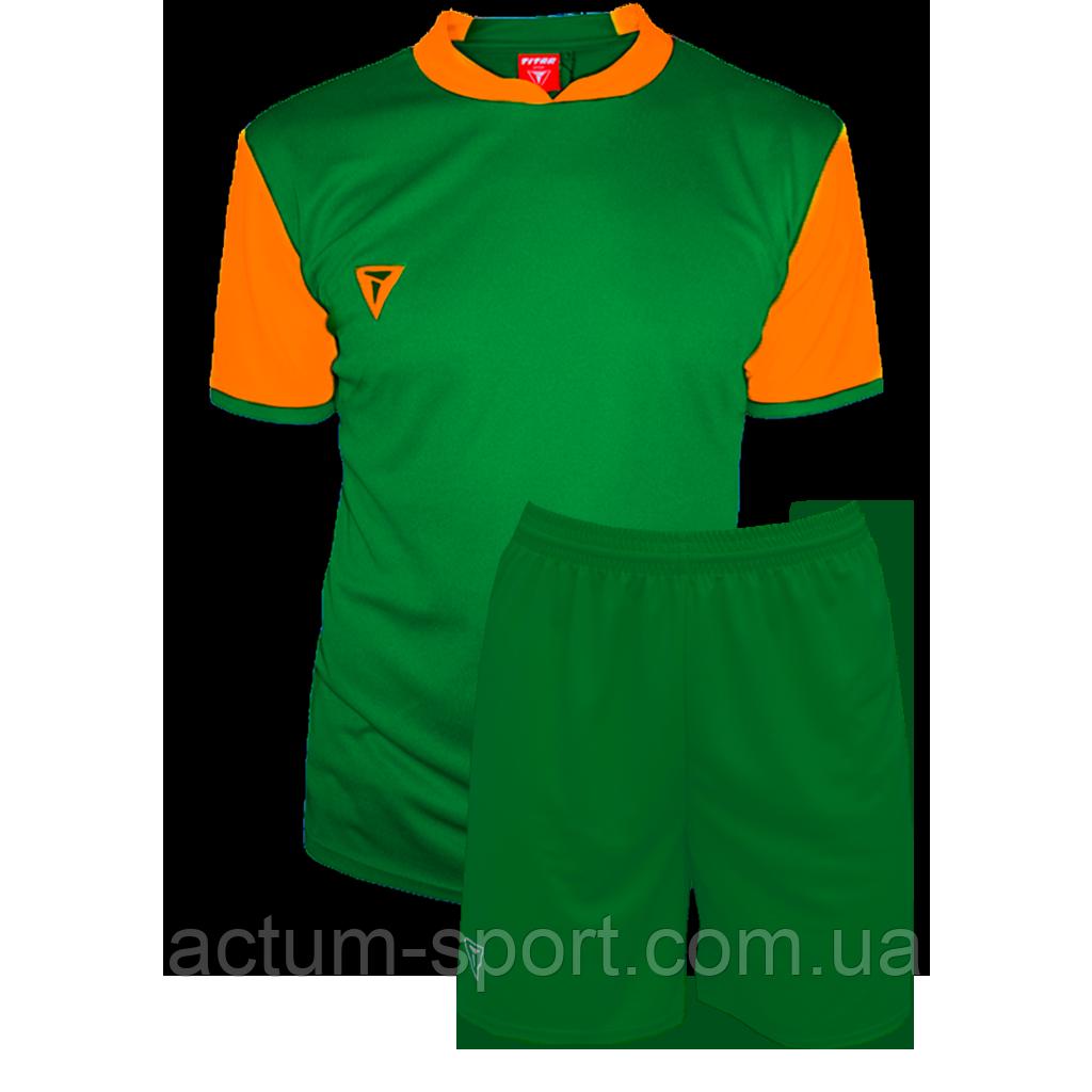 Футбольная форма Classic  Зелено/оранжевый, XXL