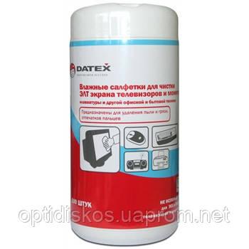 Чистящие салфетки  для TFT экранов  DATEX N-5855, для TFT, банка 100шт, фото 2
