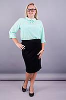 Пион. Офисная юбка больших размеров. Черный., фото 1