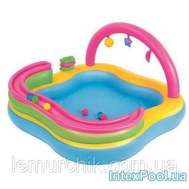 Детский надувной игровой центр Intex BestWay, 157 х 157 х 86 см