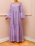 Летнее платье макси свободный силуэт большие размеры, фото 1