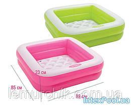Детский надувной бассейн Intex, 85 х 85 х 23 см