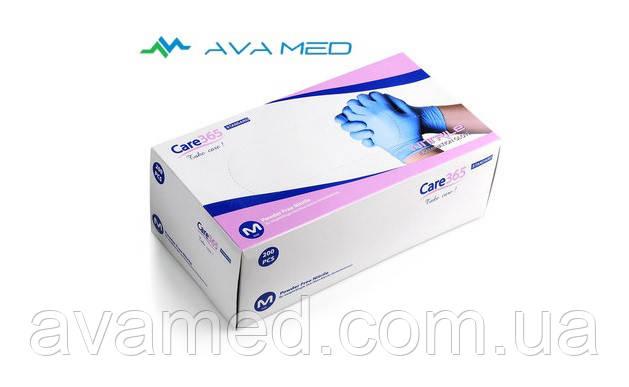 Перчатки Care 365 (200 штук/уп.), нитриловые смотровые нестерильные неопудреные