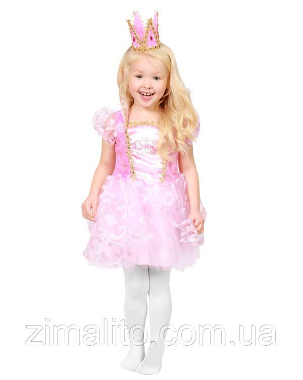 Королевна в розовом карнавальный костюм детский