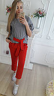 Костюм брючный брюки и блуза, фото 1