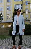 Женский голубой жакет из бархата, женское пальто-жакет, фото 1