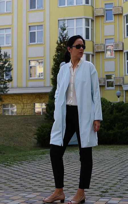 Женский жакет Nklook из бархата голубой, женское пальто жакет