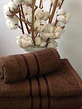 Махровое полотенце 30х50, 100% хлопок 420 гр/м2, Пакистан, Шоколад, Без борда
