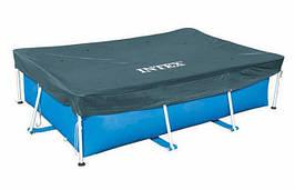 Тент для прямокутних каркасних басейнів розміром 300 Х 200 см Rectangular Pool Cover Intex 28038