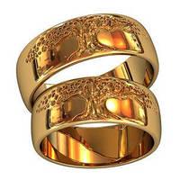Обручальные кольца из золота (пара) на заказ - воплощаем Ваши фантазии и мечты в реальность