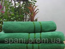 Махровое полотенце 30х50, 100% хлопок 420 гр/м2, Пакистан, Темный зеленый, Без борда