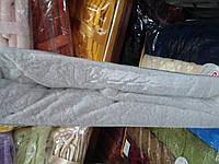Простынь  махровая на резинке  Relax жаккард на 180 на 200 см. белая