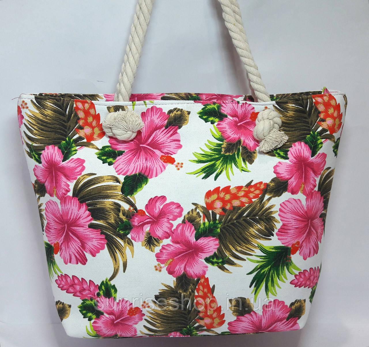 Пляжная сумка Цветочный принт опт и розница