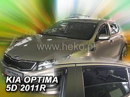 Дефлекторы окон (ветровики)  KIA OPTIMA - (TF) 5D 2011R-> (HEKO)