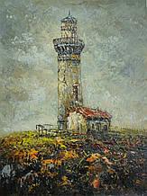 "Картина нарисована маслом на холсте ( 43 х 32 см.) ""Небесный маяк"""