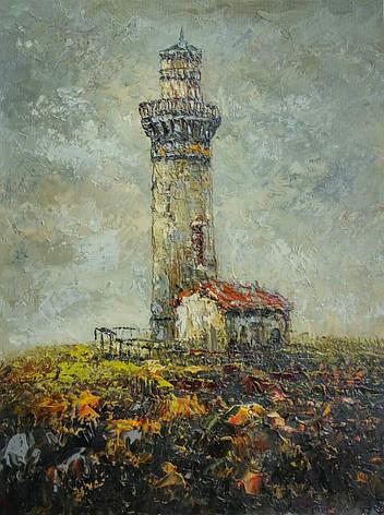 "Картина нарисована маслом на холсте ( 43 х 32 см.) ""Небесный маяк"", фото 2"
