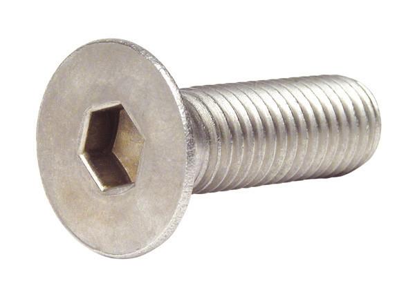 Гвинт з потайною головкою і внутрішнім шестигранником DIN 7991 кл. пр. 10.9, 12.9