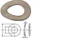 Шайба пружинная волнистая DIN 137 В