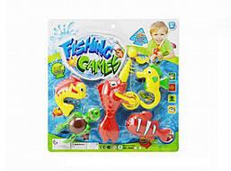 Детская магнитная рыбалка - удочка и рыбки на блистере