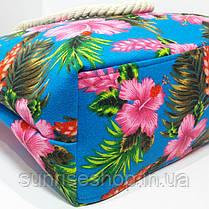 Пляжная сумка Цветочный принт опт и розница, фото 3