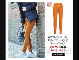 25df117c0b142a Uniqlo WOMEN HEATTECH HIGH-RISE LEGGINGS PANTS (VELVET: продажа ...