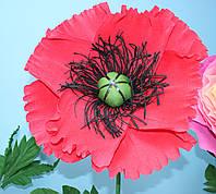 Бумажный цветок - мак, фото 1