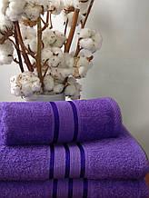 Махровое полотенце 30х50, 100% хлопок 420 гр/м2, Пакистан, Фиолет, Без борда