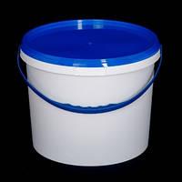 Ведро пластиковое пищевое 10л (біле)