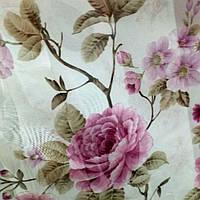 Тюль шифон Летняя роза, фото 1