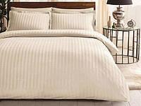 Комплект постельного белья ТАС Noble crem жаккард сатин де люкс 220-200 см, фото 1