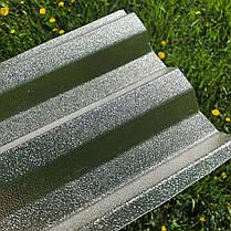 Рифленый   профилированный  поликарбонат  прозрачный 1,06*3м, фото 3