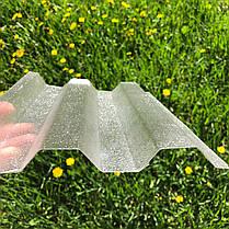 Рифленый   профилированный  поликарбонат  прозрачный 1,06*3м, фото 2