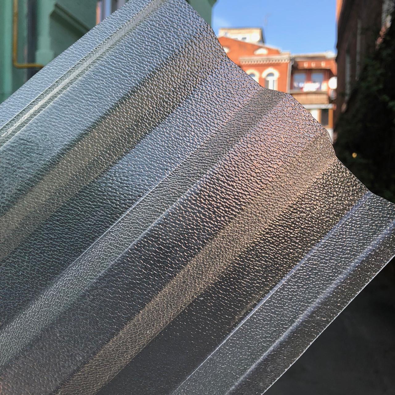 Рифленый   профилированный  поликарбонат  прозрачный 1,06*3м