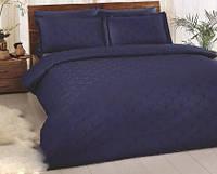 Комплект постельного белья ТАС Cross(indigo) жаккард сатин де люкс 220-200 см