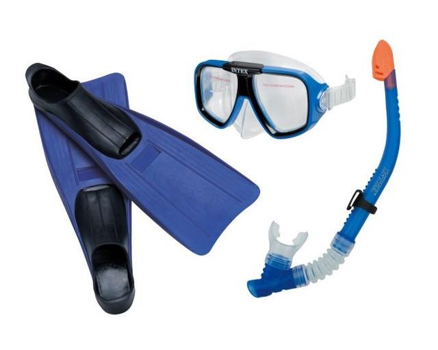 Набор для подводного плавания INTEX 55957 маска трубка ласты