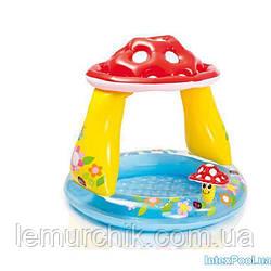 """Детский надувной бассейн Intex """"Гриб"""" с навесом, 102 х 89 cм"""