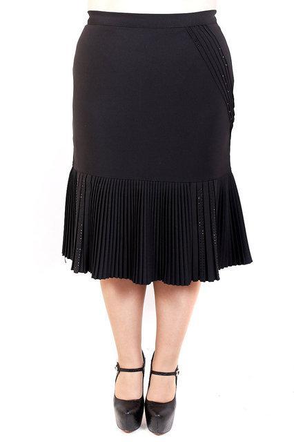 Женские юбка большого размера Зарина плиссе , фото 1